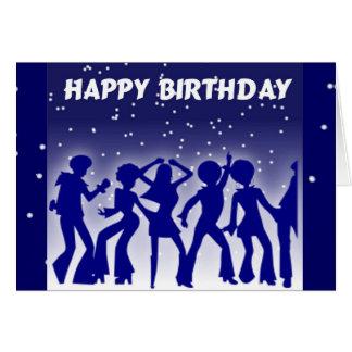 Grattis på födelsedagendiskodansare hälsningskort