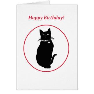 Grattis på födelsedagendjurälskare hälsningskort