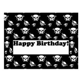 Grattis på födelsedagendöskallarmall vykort