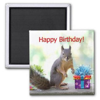 Grattis på födelsedagenekorre magnet