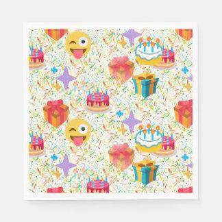 grattis på födelsedagenemojiservetter servetter