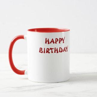 Grattis på födelsedagenglassmugg mugg