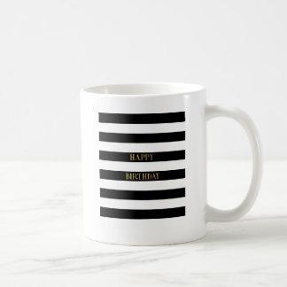 Grattis på födelsedagenguld kaffemugg