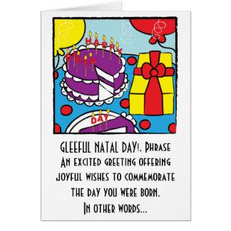 Grattis på födelsedagenhälsningkort hälsningskort