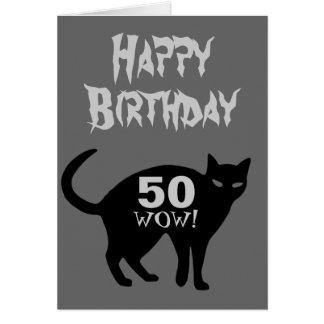 Grattis på födelsedagenkort 50th. hälsningskort