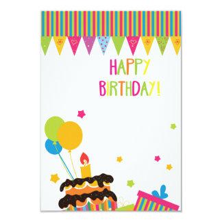 Grattis på födelsedagenkort 8,9 x 12,7 cm inbjudningskort