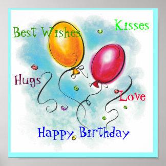 Grattis på födelsedagenkort posters
