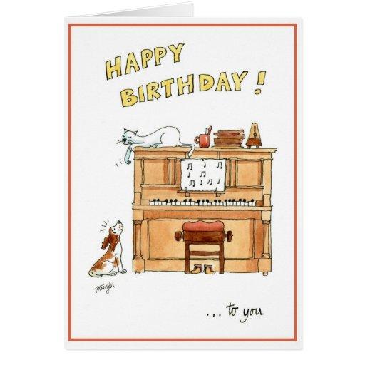 Grattis på födelsedagenkort för musikälskare hälsningskort