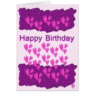 Grattis på födelsedagenkort hälsningskort