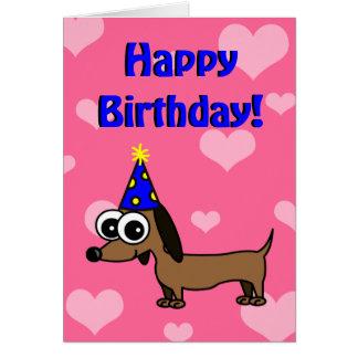 Grattis på födelsedagenkort med tecknadtax hälsningskort