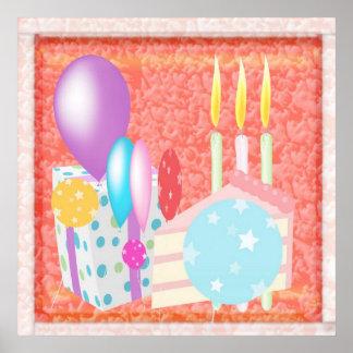 Grattis på födelsedagenmönster affisch