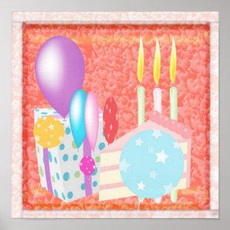 Grattis på födelsedagenmönster posters