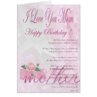 Grattis på födelsedagenmor från dotter hälsningskort