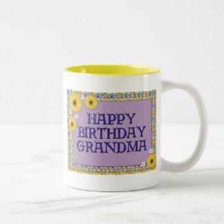 Grattis på födelsedagenmormor Två-Tonad mugg