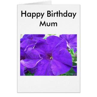 Grattis på födelsedagenmorsa hälsningskort