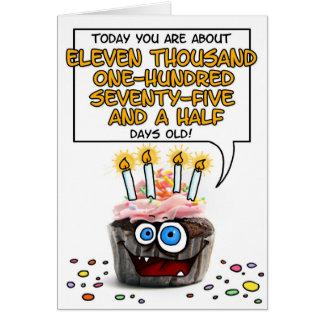 Grattis på födelsedagenmuffin - 30 gammala år hälsningskort