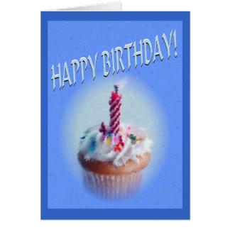 Grattis på födelsedagenmuffin hälsningskort