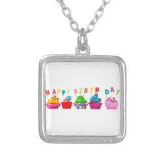 Grattis på födelsedagenmuffins - halsband