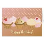 Grattis på födelsedagenmuffins OBS kort