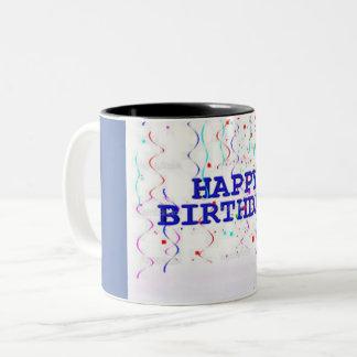 grattis på födelsedagenmugg Två-Tonad mugg