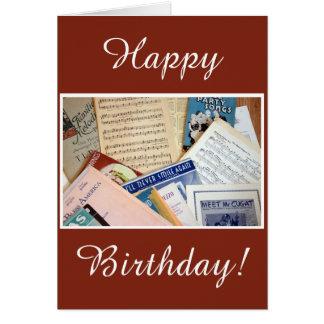 Grattis på födelsedagenmusik hälsningskort