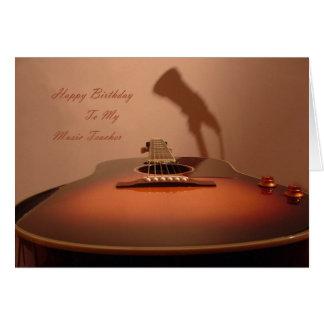 Grattis på födelsedagenmusiklärare hälsningskort