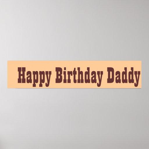 Grattis på födelsedagenpappa posters