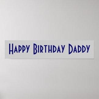 Grattis på födelsedagenpappa poster