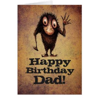 Grattis på födelsedagenpappa! - Roligt fartroll Hälsningskort