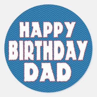 Grattis på födelsedagenpappa runt klistermärke
