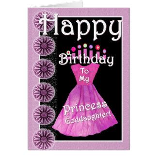 Grattis på födelsedagenPrincess Goddaughter - Hälsningskort