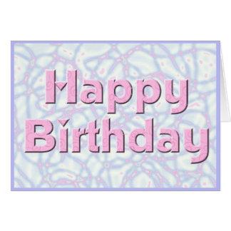Grattis på födelsedagenrosor & blått hälsningskort