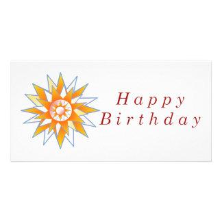 Grattis på födelsedagensolenergi Chakra Fotokort