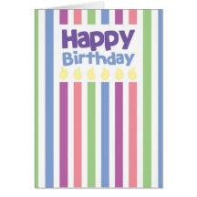 Grattis på födelsedagenstripeykort hälsningskort