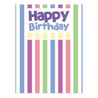 Grattis på födelsedagenstripeykort vykort