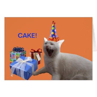 Grattis på födelsedagenTÅRTA Hälsningskort