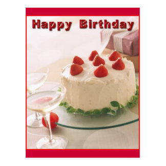 Grattis på födelsedagentårta vykort