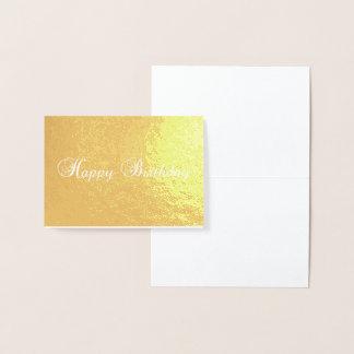 grattis på födelsedagentypografiguld omkullkastar folierat kort