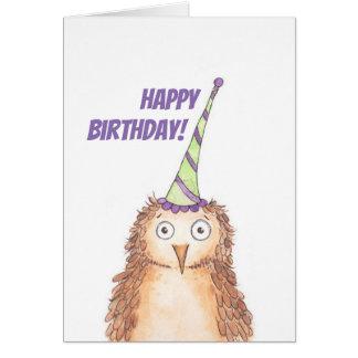 Grattis på födelsedagenuggla hälsningskort