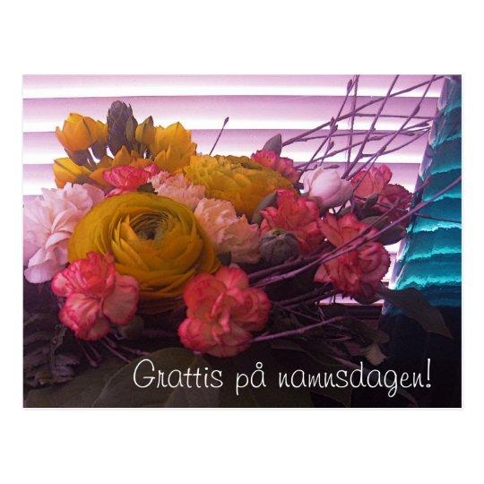 grattis på namnsdagen kort Grattis pånamnsdagen, blommorkort vykort | Zazzle.se grattis på namnsdagen kort