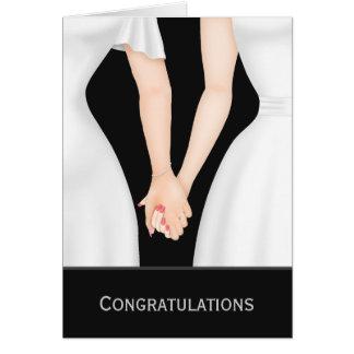 Grattis två brudar, i att gifta sig för klänningar hälsningskort