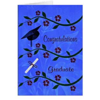Grattisen avlägger examen hälsningkortet hälsningskort