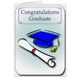 Grattisen avlägger examen studentenkortet hälsningskort