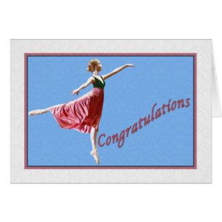 Grattisen Card för danshögläsning Hälsningskort
