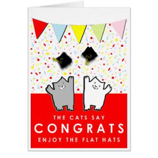 Gratulerar rolig studenten hälsningskort