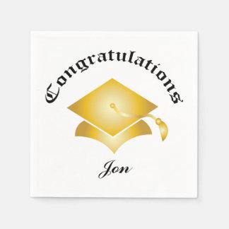 Gratulerara studentenservetter för anpassade - servett
