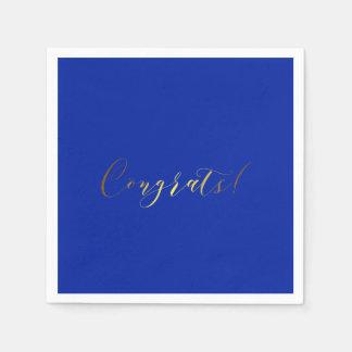 Gratulerart guld omkullkastar verkställer pappra pappersservett