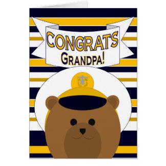 Gratulerart - marinmorfar/farfar hälsningskort