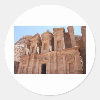 Grav för Petra-Jordanienslott Runt Klistermärke