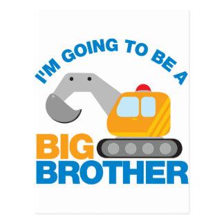 Grävarelastbil som går att vara en storebror vykort